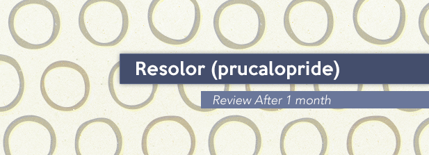 Resolor (prucalopride) Review After 1 month