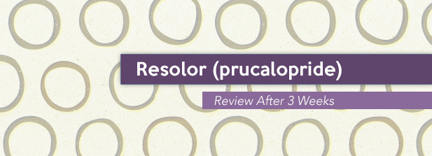 Resolor (prucalopride) Review After 3 Weeks