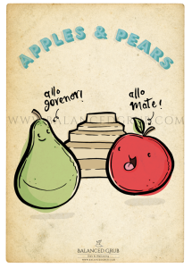 apples & pears poster-full view
