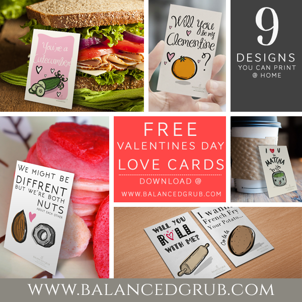 Free Valentines Day lunchbox cards
