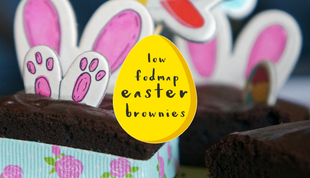 Low FODMAP Easter Brownie