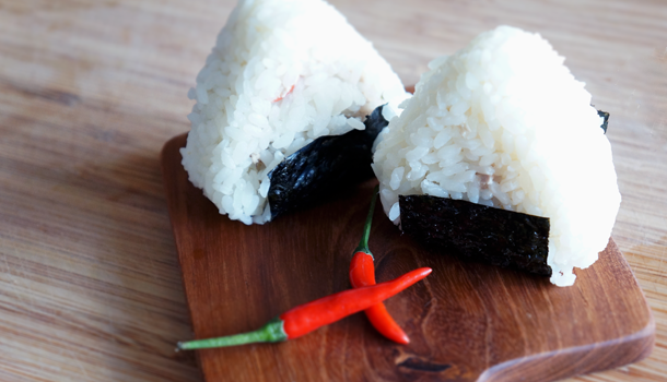 Low FODMAP Onigiri rice ball