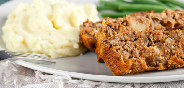 Low FODMAP | Lentil Loaf with Cranberries & Chestnuts